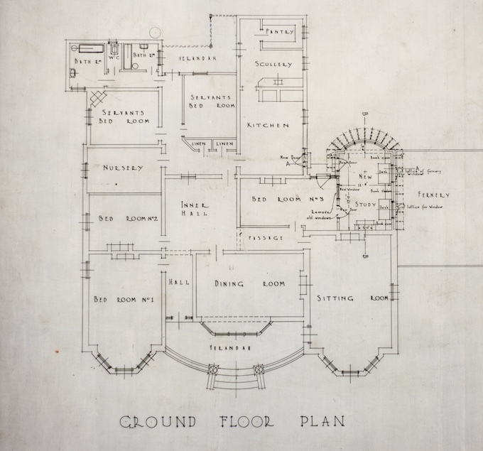 Proposed ground floor plan 1924, A & K Henderson collection, SLV Pictures