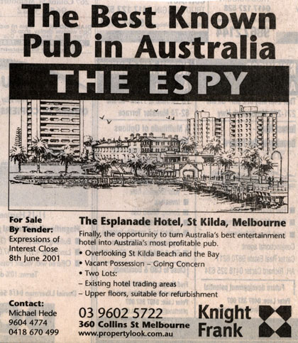 The Espy for Sale