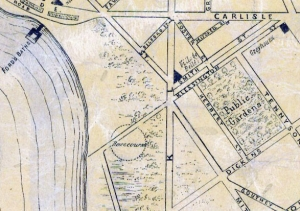 Map showing location of course ca. 1866
