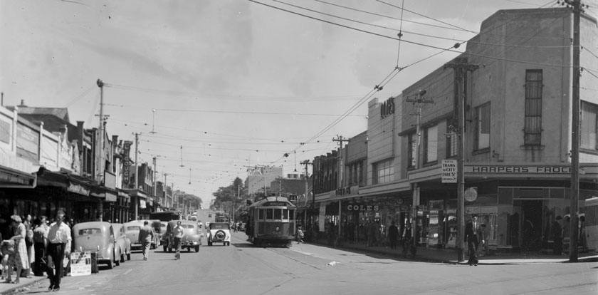 View north up Acland Street from Barkly Street, 1944